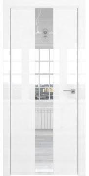 Межкомнатная дверь ZM035 (белая глянцевая, зеркало) — 3022
