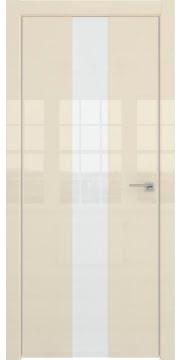 Межкомнатная дверь ZM035 (ваниль глянцевая, лакобель белый) — 3020