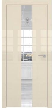 Межкомнатная дверь ZM035 (ваниль глянцевая, зеркало) — 3021