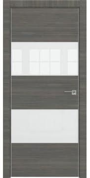 Межкомнатная дверь ZM036 (экошпон ольха, лакобель белый) — 3036