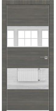 Межкомнатная дверь ZM036 (экошпон ольха, зеркало) — 3037