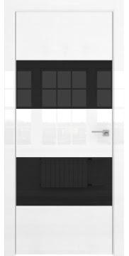 Межкомнатная дверь ZM036 (белая глянцевая, лакобель черный) — 3047