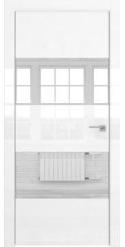 Межкомнатная дверь ZM036 (белая глянцевая, зеркало) — 3049