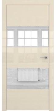 Межкомнатная дверь ZM036 (ваниль глянцевая, зеркало) — 3044