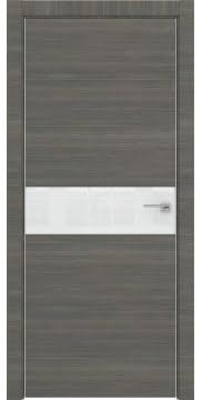 Межкомнатная дверь ZM037 (экошпон ольха, лакобель белый) — 3025