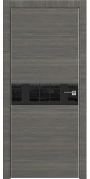 Межкомнатная дверь ZM037 (экошпон ольха, лакобель черный) — 3026