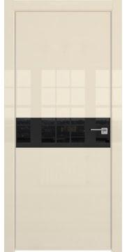 Межкомнатная дверь ZM037 (ваниль глянцевая, лакобель черный) — 3030