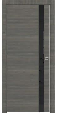 Межкомнатная дверь ZM038 (экошпон ольха, лакобель черный) — 3050