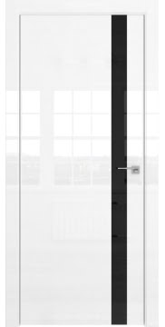 Межкомнатная дверь ZM038 (белая глянцевая, лакобель черный) — 3062