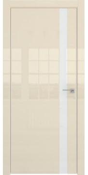 Межкомнатная дверь ZM038 (ваниль глянцевая, лакобель белый) — 3060