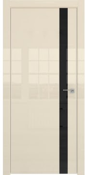 Межкомнатная дверь ZM038 (ваниль глянцевая, лакобель черный) — 3061