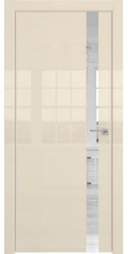 Межкомнатная дверь ZM038 (ваниль глянцевая, зеркало) — 3059