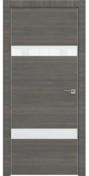 Межкомнатная дверь ZM040 (экошпон ольха, лакобель белый) — 3082