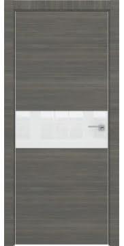 Межкомнатная дверь ZM041 (экошпон ольха, лакобель белый) — 3096