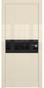 Межкомнатная дверь ZM041 (ваниль глянцевая, лакобель черный) — 3102