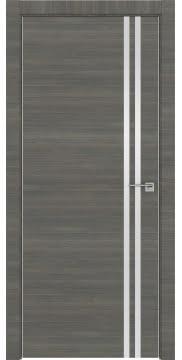 Дверь с каркасом из массива сосны, ZM043 (экошпон ольха, глухая, алюминиевая кромка)