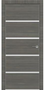Межкомнатная дверь, ZM044 (экошпон ольха, глухая, алюминиевая кромка)