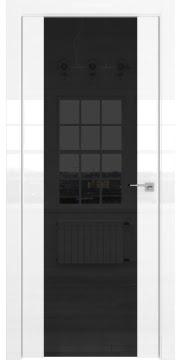Межкомнатная дверь ZM045 (белая глянцевая, триплекс черный) — 3122