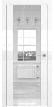 Межкомнатная дверь ZM045 (белая глянцевая, зеркало двухстороннее) — 3121