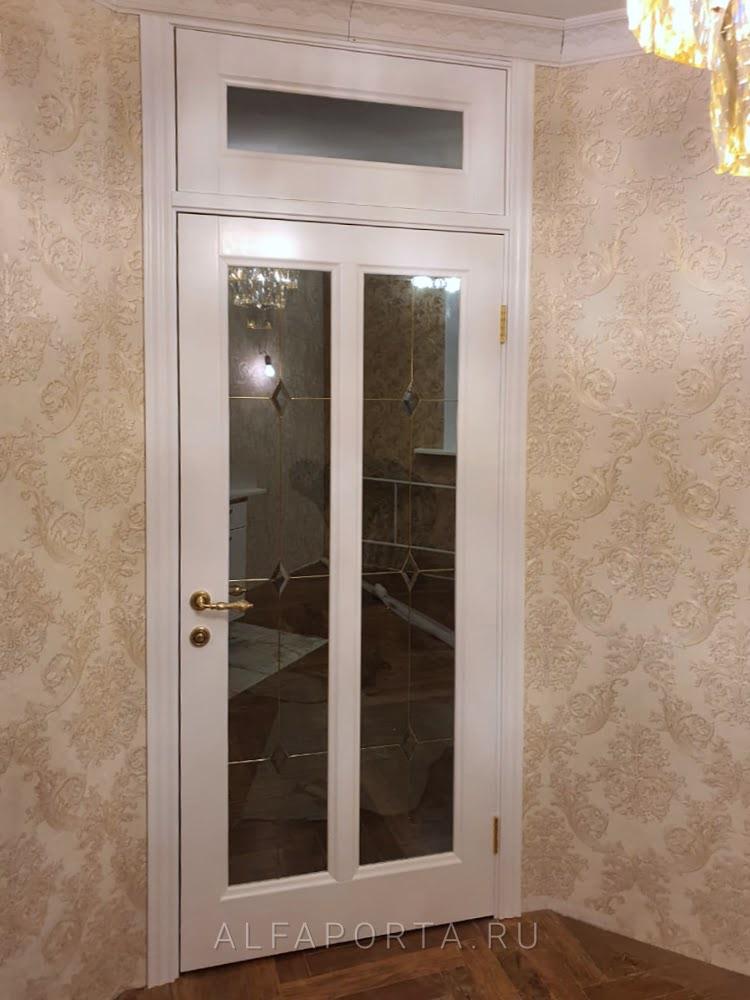 Установленные межкомнатные двери с фрамугой